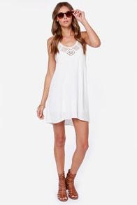 Festival Bound Crochet Ivory Halter Dress at Lulus.com!