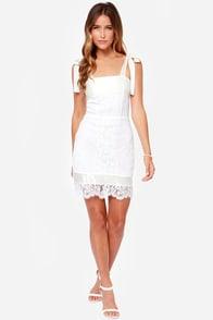 For Love & Lemons Dallas Ivory Lace Dress at Lulus.com!
