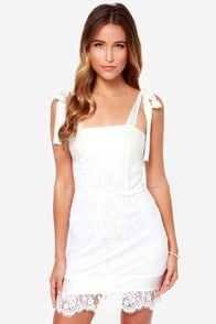 For Love & Lemons Dallas Ivory Lace Dress at Lulus.com!