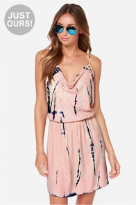 LULUS Exclusive Almost Flame-ous Peach Tie-Dye Dress at Lulus.com!