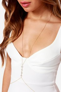 Break the Chain Gold Chain Body Harness at Lulus.com!