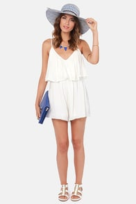 Sand and Sun Ivory Romper at Lulus.com!