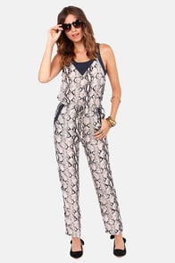 Hiss and Tell Snake Print Jumpsuit at Lulus.com!