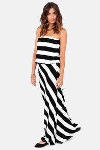 Live in the Contrast Black and White Maxi Dress at Lulus.com!