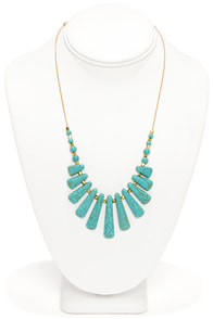 Artifact of the Matter Turquoise Necklace at Lulus.com!