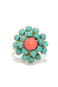 Bring Me Flowers Turquoise Ring at Lulus.com!