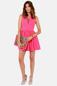 Smiles Per Hour Pink Dress at Lulus.com!
