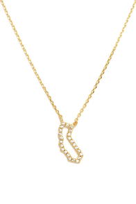 Gone Coastal Gold Rhinestone California Necklace at Lulus.com!