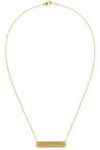 The Faintest I.D. Gold ID Necklace at Lulus.com!