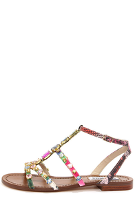 Steve Madden Bjeweled Bright Multi Rhinestone Sandals at Lulus.com!