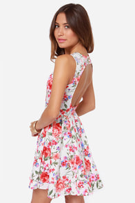 LULUS Exclusive Sixth Scents White Floral Print Dress at Lulus.com!