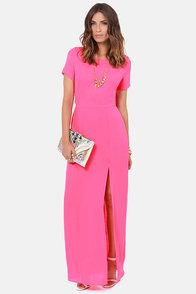 Don't Call It a Comeback Pink Maxi Dress