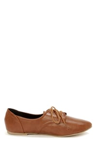 City Classified Desta Tan Lace-Up Oxfords at Lulus.com!