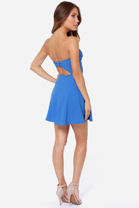 America's Sweetheart Strapless Blue Dress at Lulus.com!