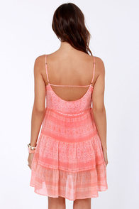 O'Neill Romance Print Coral Dress at Lulus.com!