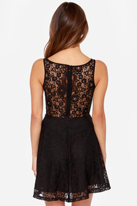 BB Dakota Cyrus Black Lace Dress at Lulus.com!