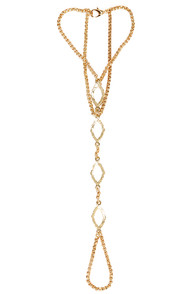 Chain Reaction Gold Harness Bracelet at Lulus.com!