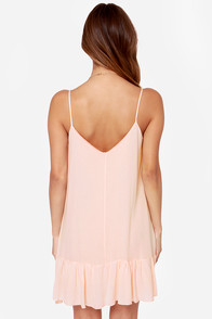Let It Flow Light Peach Dress at Lulus.com!
