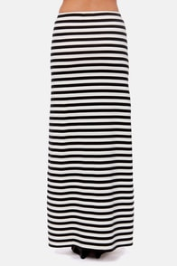 Billabong You Feelin Me Black and Ivory Maxi Skirt at Lulus.com!