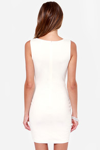 Curve-ing Berlin Bodycon Ivory Dress at Lulus.com!