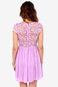 Look the Part-y Lavender Lace Dress at Lulus.com!