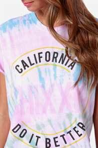 Laundry Room CA Chixxx Tie-Dye Tee at Lulus.com!