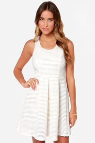 Lawn Games Ivory Skater Dress at Lulus.com!