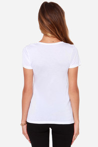Laundry Room Coffee Bum White Tee at Lulus.com!