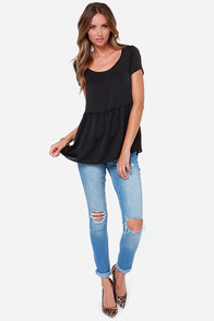 LULUS Exclusive Night Visions Black Top at Lulus.com!