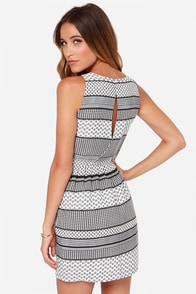 Jack by BB Dakota Lola Black and White Print Dress at Lulus.com!