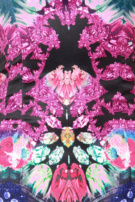 Rococo Supernova Fuchsia Mirror Print Dress at Lulus.com!