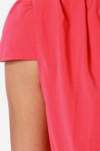 LULUS Exclusive Feeling Flirty Coral Romper at Lulus.com!