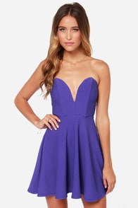 All Good Things Strapless Indigo Dress at Lulus.com!