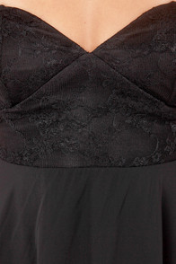 Ta-ra-ra Bustier! Black Dress at Lulus.com!