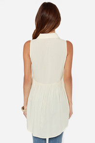 Elderflower Sleeveless Cream Tunic Top at Lulus.com!