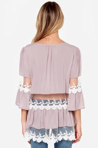 Ain't It Fun Taupe Lace Tunic Top at Lulus.com!