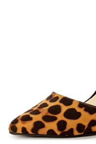 Anne Michelle Momentum 36 Leopard Print D'Orsay Pointed Pumps at Lulus.com!