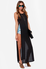 LULUS Exclusive Long Number Black Maxi Top at Lulus.com!