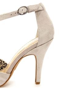 Jessica Simpson Jeraldine Elephant Grey Peep Toe T-Strap Heels at Lulus.com!