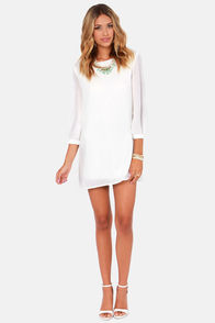 World's Greatest Ivory Shift Dress at Lulus.com!