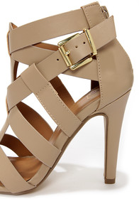 My Delicious Ivona Putty Caged High Heel Sandals at Lulus.com!