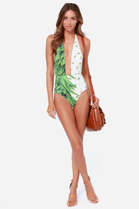 Private Arts Waikiki Pineapple Print One Piece Swimsuit at Lulus.com!