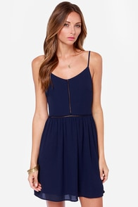 Where the Heart Is Navy Blue Dress at Lulus.com!