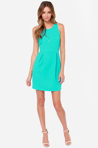 Let's Go Party Turquoise Dress at Lulus.com!