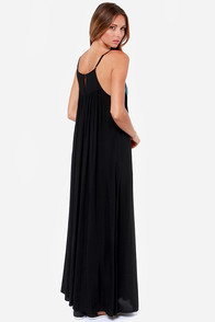 Grecian Grotto Black Maxi Dress at Lulus.com!