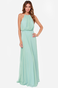 Bariano Melissa Sage Green Maxi Dress at Lulus.com!