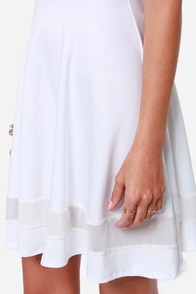 Mesh-issippi Queen Ivory Dress at Lulus.com!