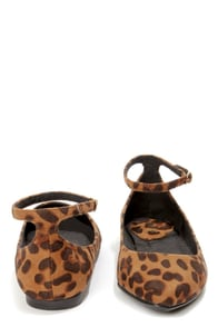 Bamboo Object 09 Leopard Suede Pointed Flats at Lulus.com!
