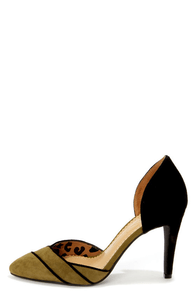 Jessica Simpson Seville Aged Bronze Combo D'Orsay Pointed Pumps at Lulus.com!