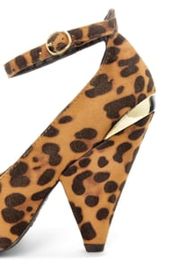Bamboo Thelma 03 Leopard Suede Ankle Strap Pointed Heels at Lulus.com!